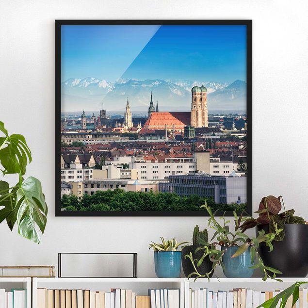 Bild mit Rahmen - München - Quadrat 1:1