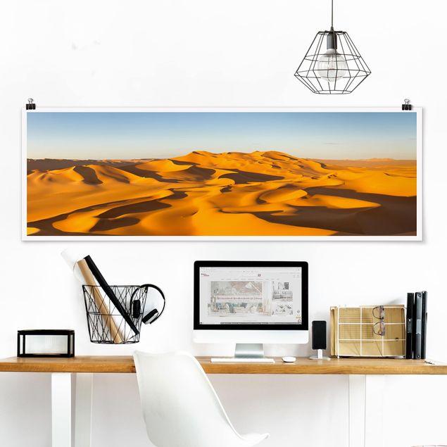Poster - Murzuq Desert In Libya - Panorama Querformat