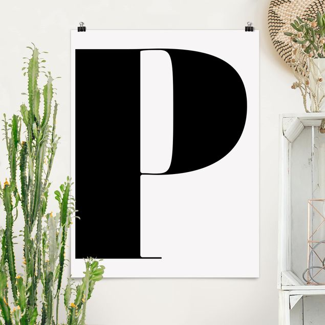 Poster - Antiqua Letter P - Hochformat 3:4