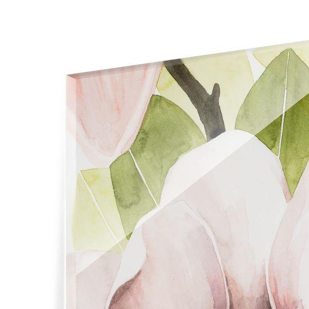 Glas Spritzschutz - Magnolie errötet I - Quadrat - 1:1
