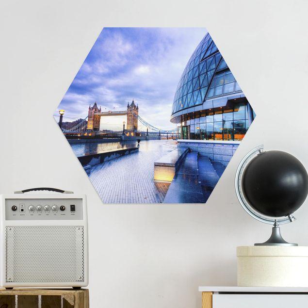 Hexagon Bild Alu-Dibond - Cityhall London