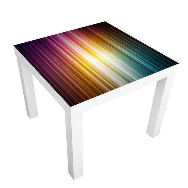 Möbelfolie für IKEA Lack - Klebefolie Rainbow Light