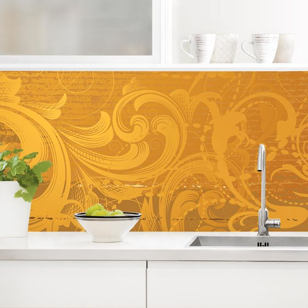 Küchenrückwand - Goldener Barock
