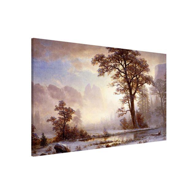 Magnettafel - Albert Bierstadt - Yosemite Valley bei Schneefall - Memoboard Querformat 2:3