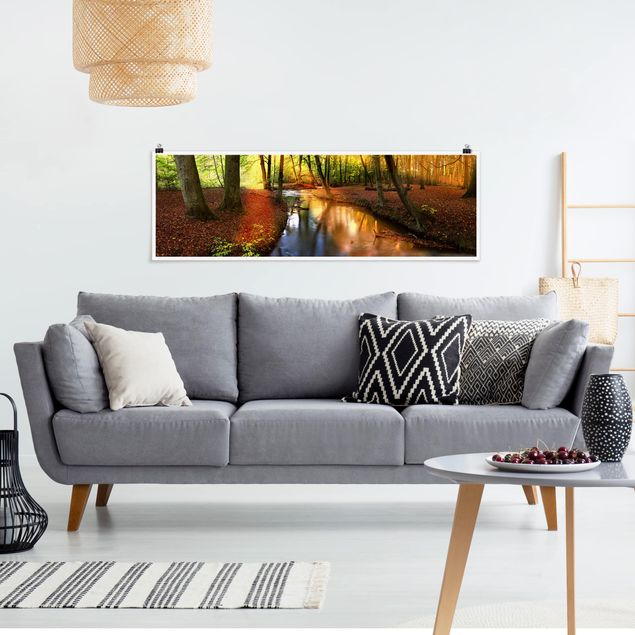 Poster - Autumn Fairytale - Panorama Querformat