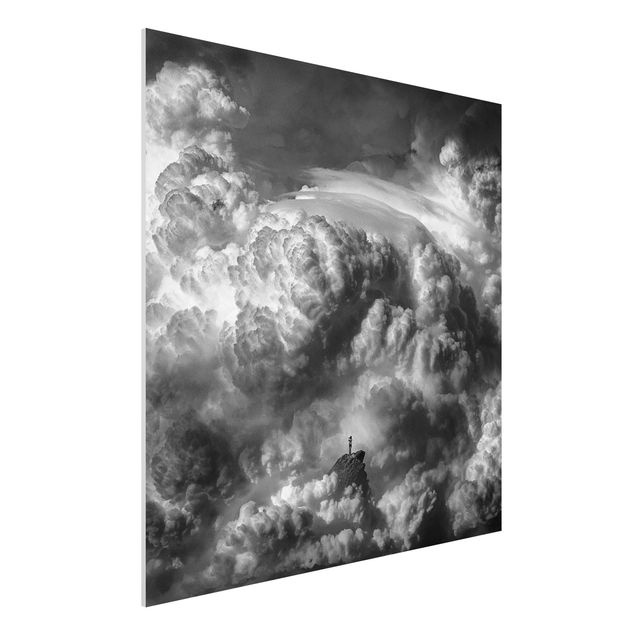 Forex Fine Art Print - Ein Sturm zieht auf - Quadrat 1:1