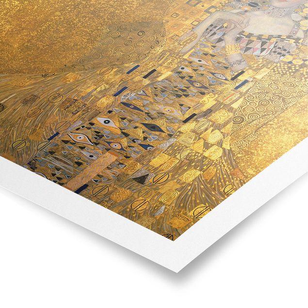 Poster - Gustav Klimt - Adele Bloch-Bauer I - Quadrat 1:1