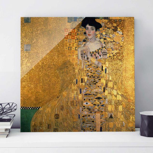 Glasbild - Gustav Klimt - Adele Bloch-Bauer I - Quadrat 1:1