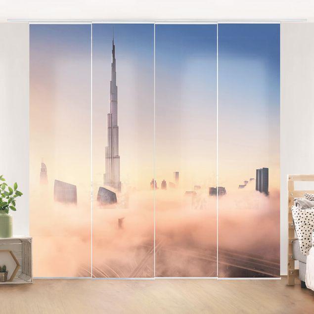 Schiebegardinen Set - Himmlische Skyline von Dubai - Flächenvorhang