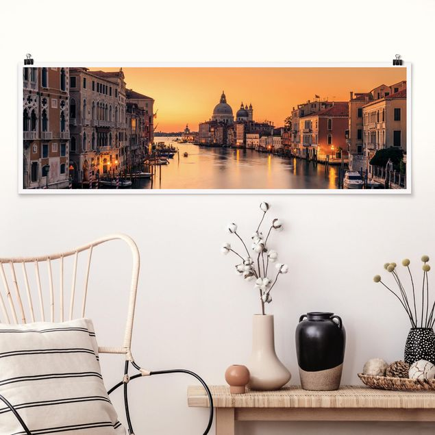 Poster - Goldenes Venedig - Panorama Querformat