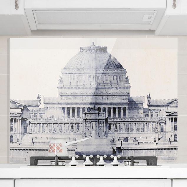 Glas Spritzschutz - Pri: de Rome Skizze I - Querformat - 4:3