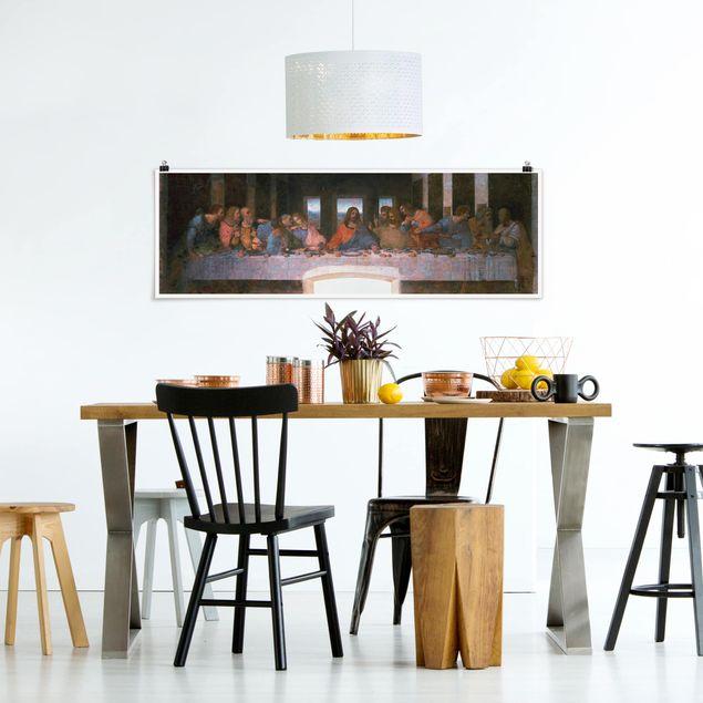 Poster - Leonardo da Vinci - Das letzte Abendmahl - Panorama Querformat