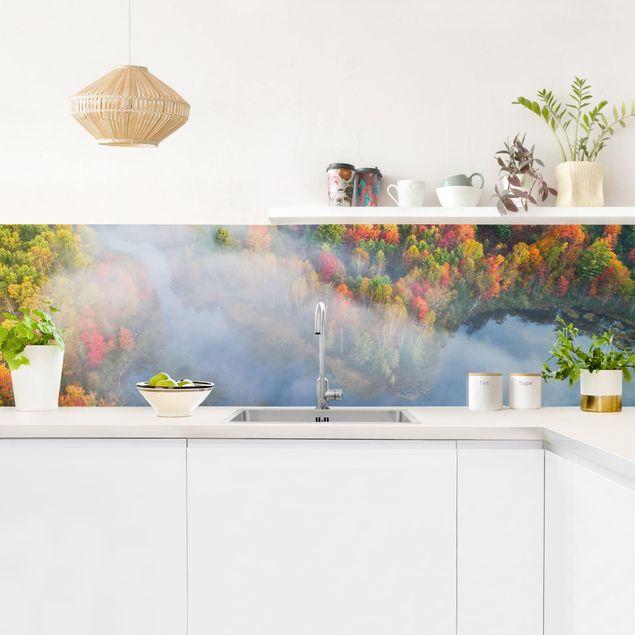 Küchenrückwand - Luftbild - Herbst Symphonie