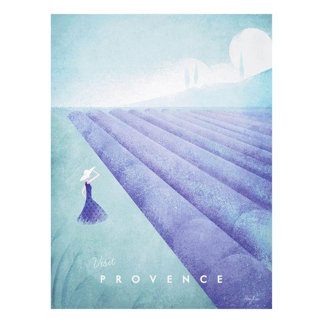 Forex Fine Art Print - Reiseposter - Provence - Hochformat 4:3