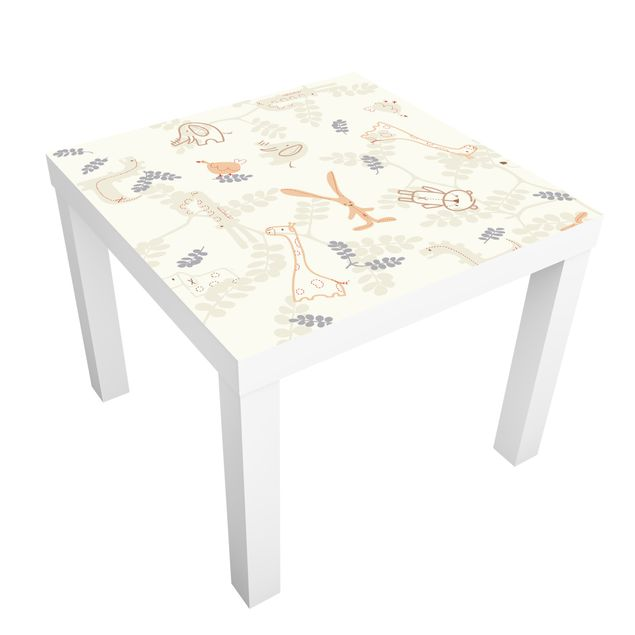 Möbelfolie für IKEA Lack - Klebefolie Pastel Plushies