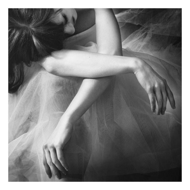 Forex Fine Art Print - Die Hände einer Ballerina - Quadrat 1:1