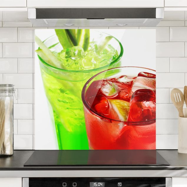 Glas Spritzschutz - Fresh Cocktails - Quadrat - 1:1