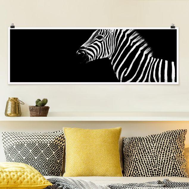 Poster - Zebra Safari Art - Panorama Querformat