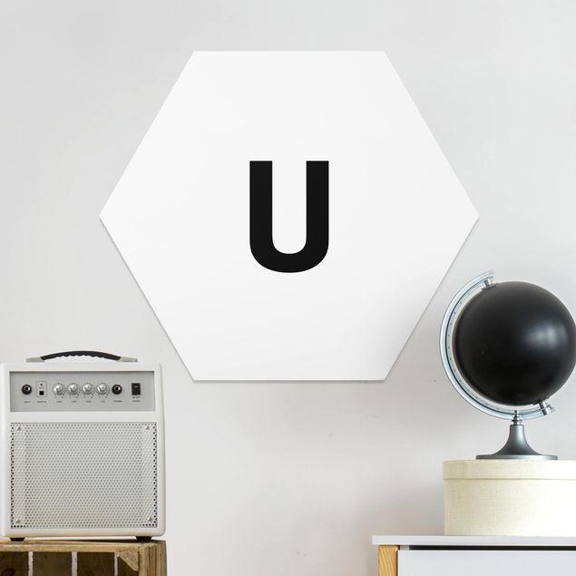 Hexagon Bild Forex - Buchstabe Weiß U