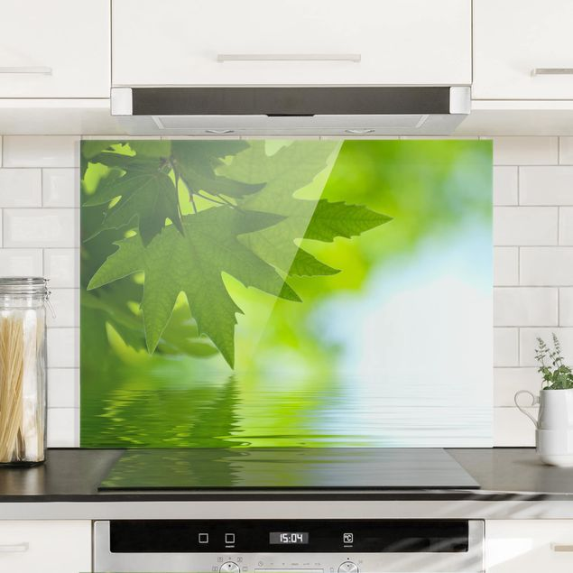 Glas Spritzschutz - Green Ambiance III - Querformat - 4:3