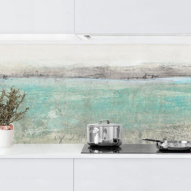 Küchenrückwand - Horizont über Türkis I