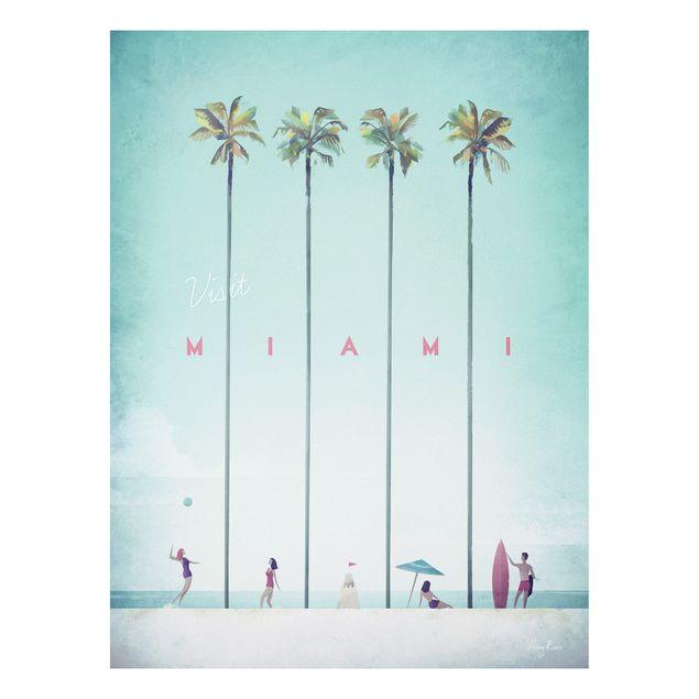 Forex Fine Art Print - Reiseposter - Miami - Hochformat 4:3
