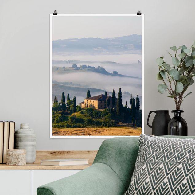 Poster - Landgut in der Toskana - Hochformat 3:4