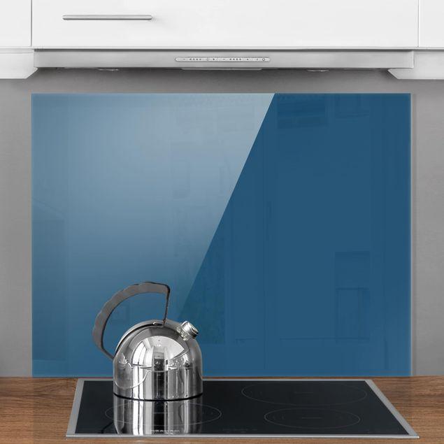 Glas Spritzschutz - Preussisch-Blau - Querformat - 4:3