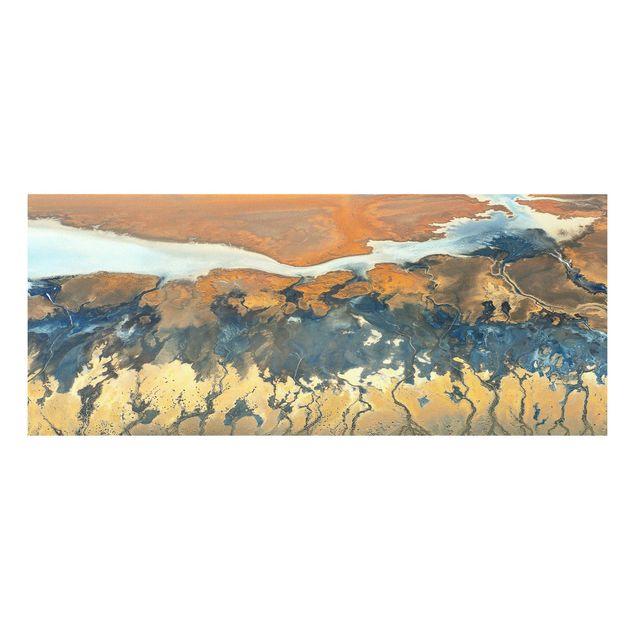 Forex Fine Art Print - Kalifornien aus der Luft - Panorama