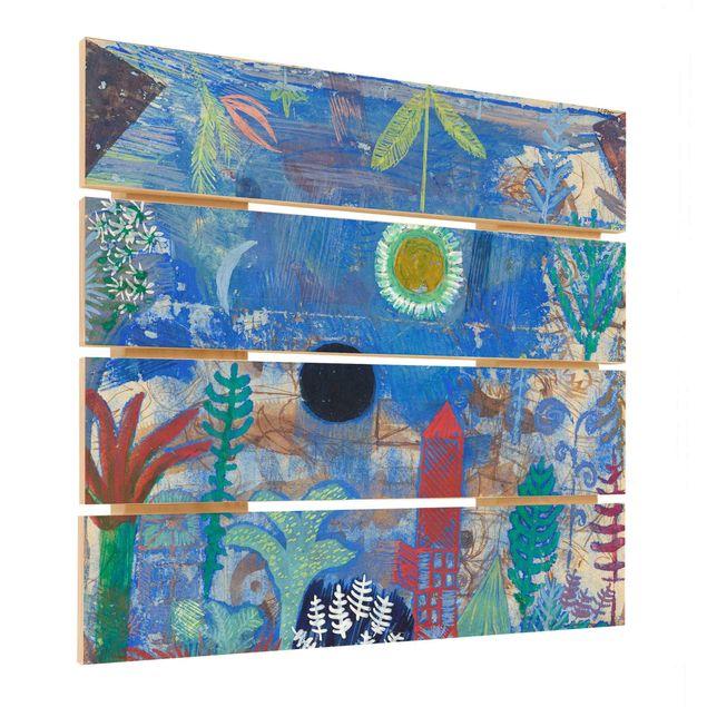 Holzbild - Paul Klee - Versunkene Landschaft - Quadrat 1:1