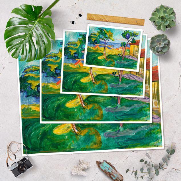 Poster - Edvard Munch - Der Garten - Querformat 3:4