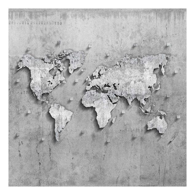 Beistelltisch - Beton Weltkarte