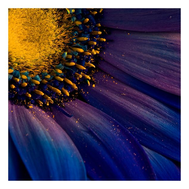 Beistelltisch - Blaue Gerberablüte