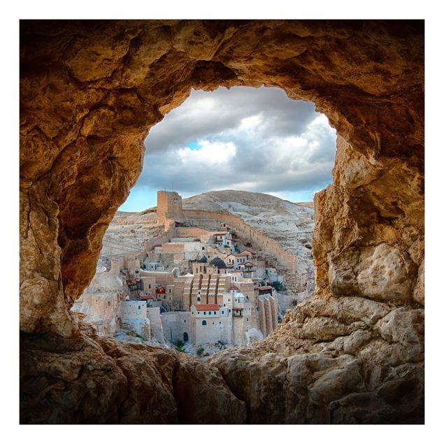 Beistelltisch - Blick auf ein Kloster