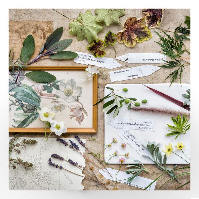 Beistelltisch - Blumen und Gartenkräuter Vintage