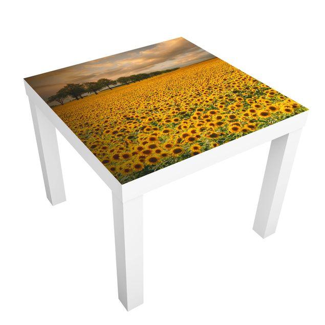 Beistelltisch - Feld mit Sonnenblumen