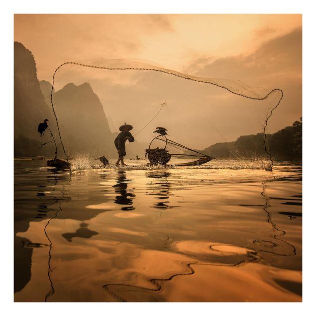 Beistelltisch - Fischer im Morgenrot