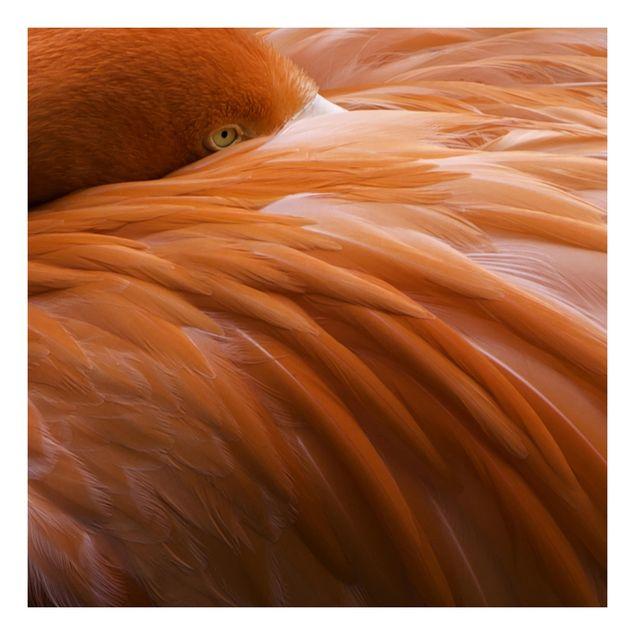 Beistelltisch - Flamingofedern