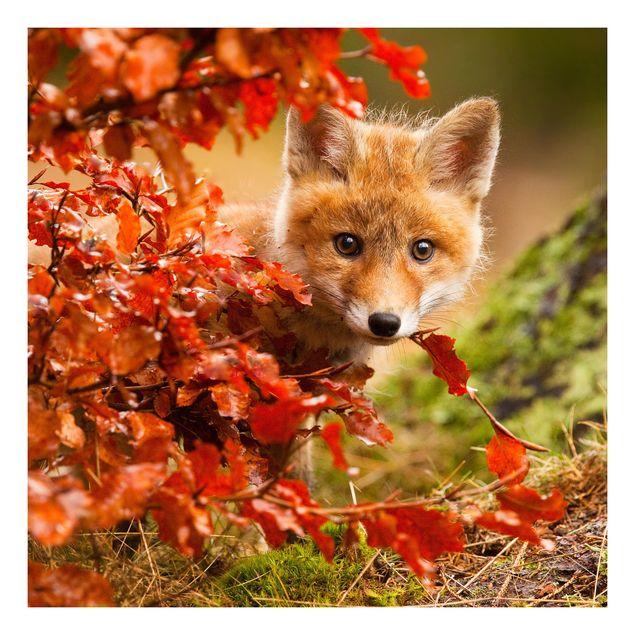 Beistelltisch - Fuchs im Herbst