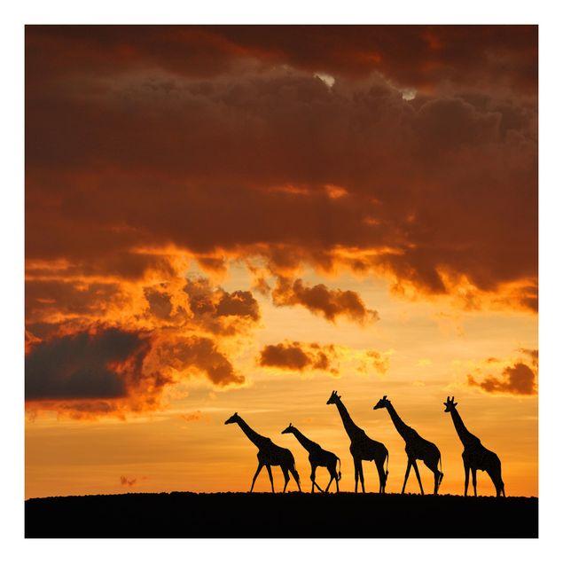 Beistelltisch - Fünf Giraffen