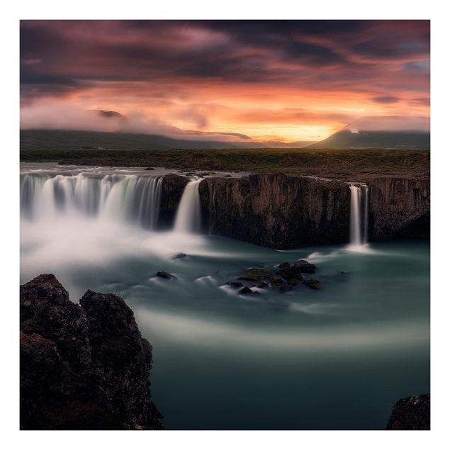 Beistelltisch - Goðafoss Wasserfall in Island