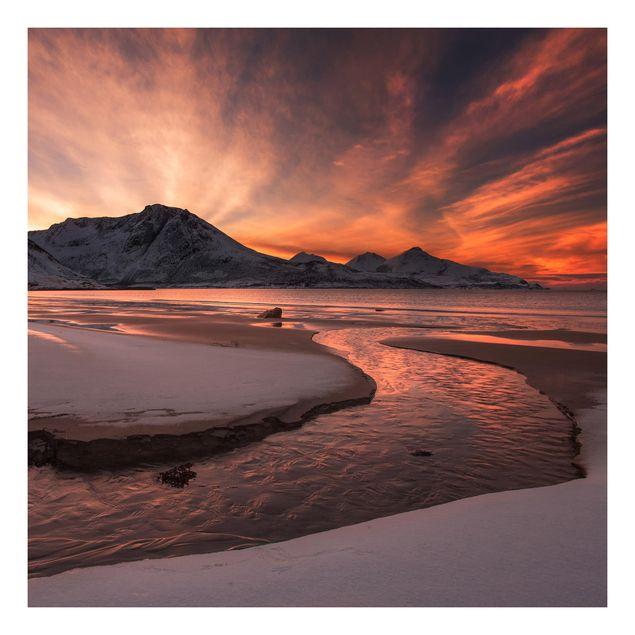 Beistelltisch - Goldener Sonnenuntergang