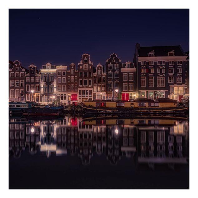 Beistelltisch - Hausboote in Amsterdam