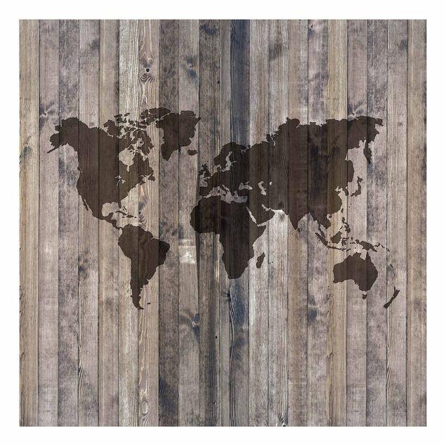 Beistelltisch - Holz Weltkarte
