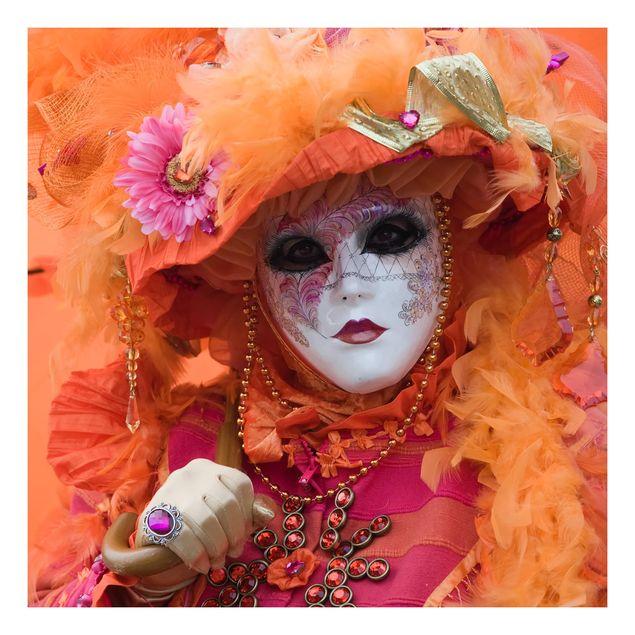 Beistelltisch - Karneval in Orange