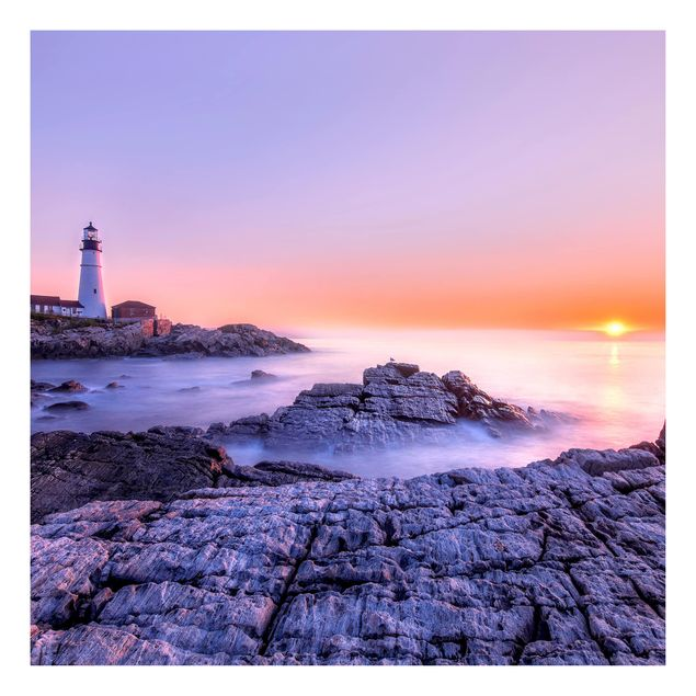 Beistelltisch - Leuchtturm am Morgen