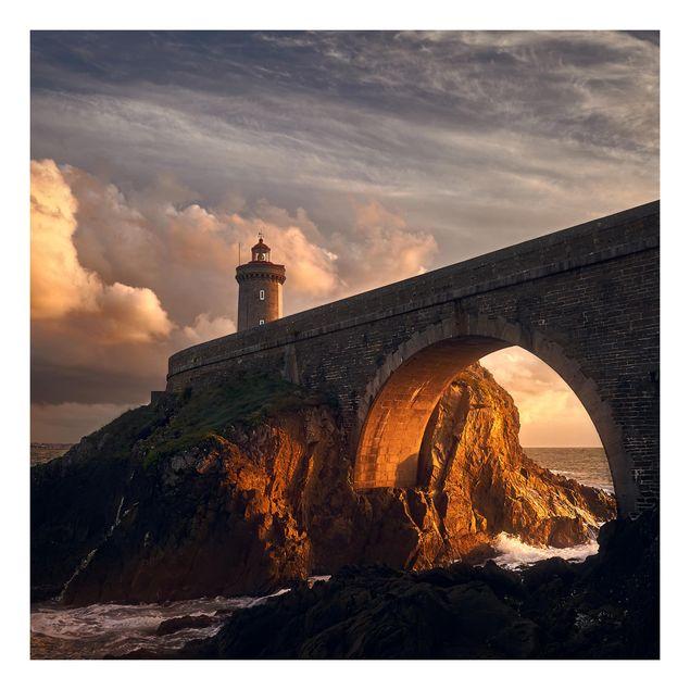 Beistelltisch - Leuchtturm an der Brücke