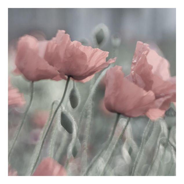 Beistelltisch - Malerische Mohnblumen