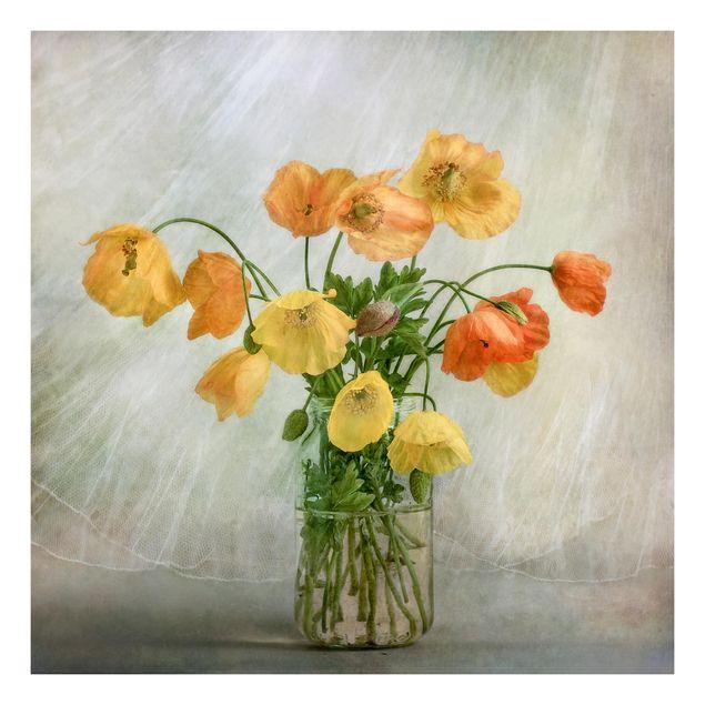 Beistelltisch - Mohnblumen in einer Vase
