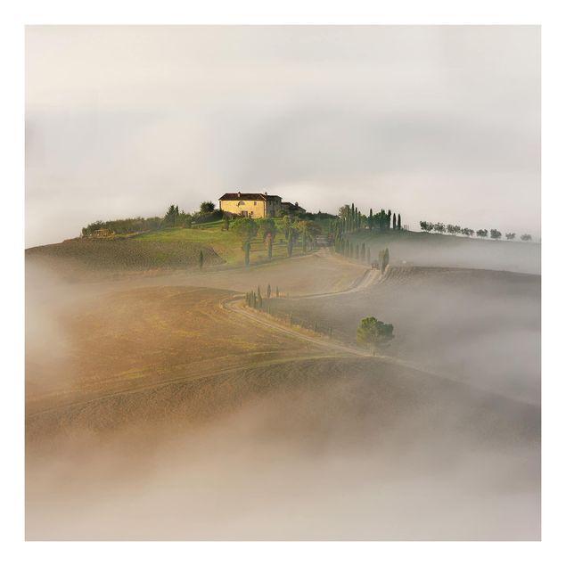 Beistelltisch - Morgennebel in der Toskana